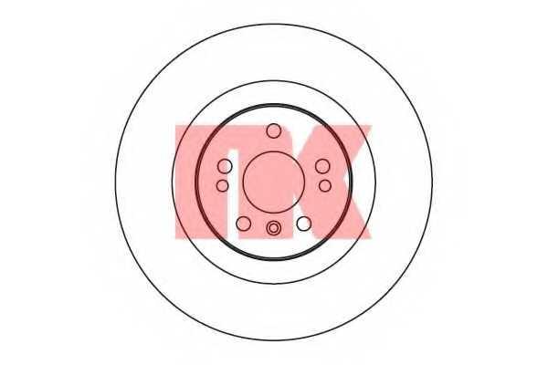 Тормозной диск NK 203393 - изображение