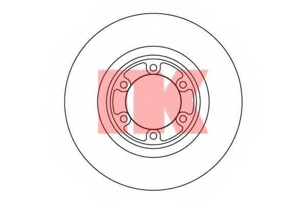 Тормозной диск NK 203417 - изображение