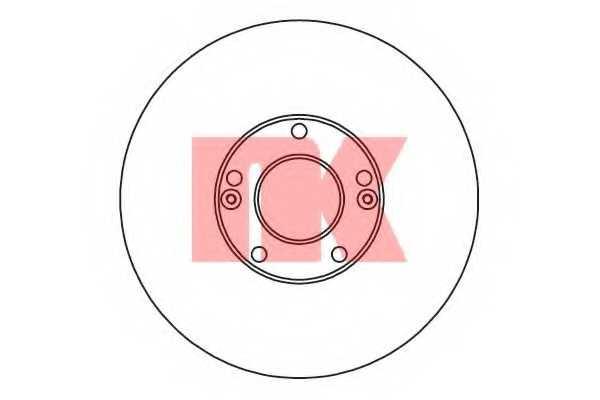 Тормозной диск NK 203433 - изображение