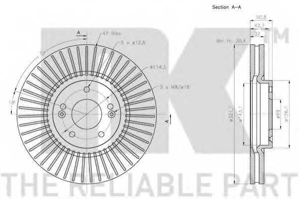 Тормозной диск NK 203440 - изображение 2