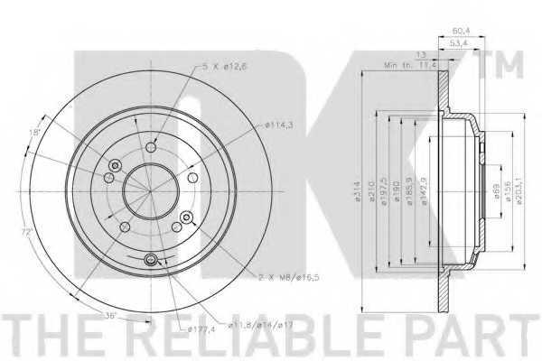 Тормозной диск NK 203453 - изображение 1
