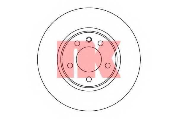 Тормозной диск NK 203620 - изображение