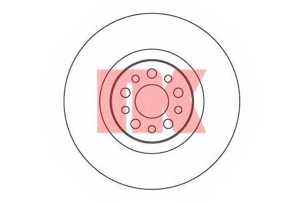 Тормозной диск NK 203730 - изображение