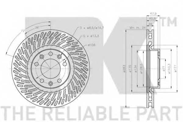 Тормозной диск NK 203747 - изображение 1