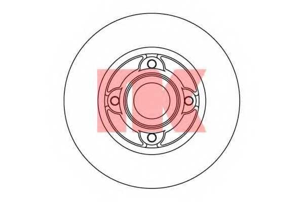 Тормозной диск NK 203917 - изображение