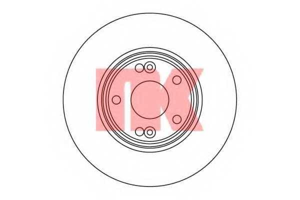 Тормозной диск NK 203930 - изображение