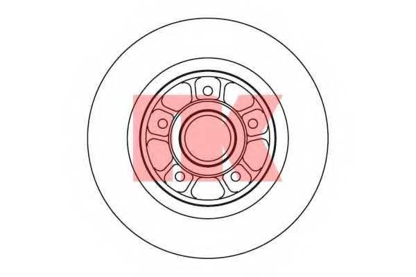 Тормозной диск NK 203931 - изображение
