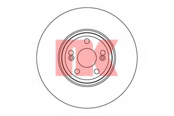 Тормозной диск NK 203933 - изображение