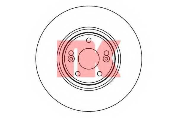 Тормозной диск NK 203961 - изображение