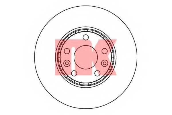 Тормозной диск NK 203971 - изображение