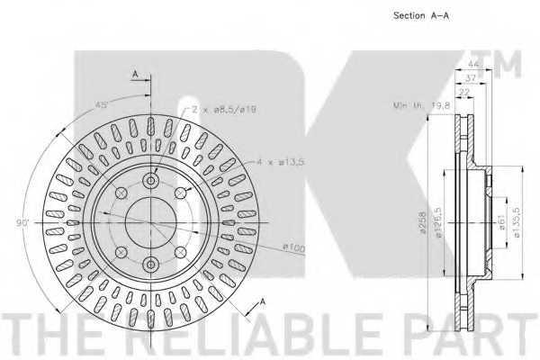 Тормозной диск NK 203996 - изображение 2