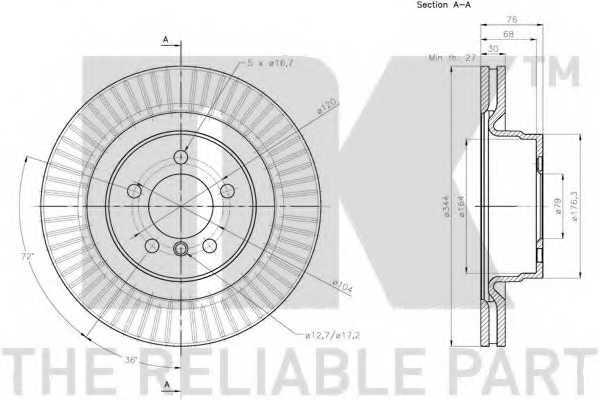 Тормозной диск NK 204045 - изображение 2
