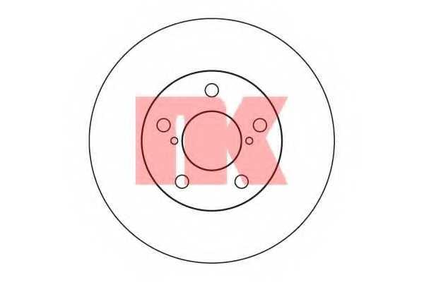 Тормозной диск NK 204409 - изображение