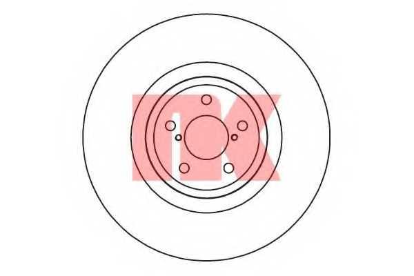 Тормозной диск NK 204417 - изображение