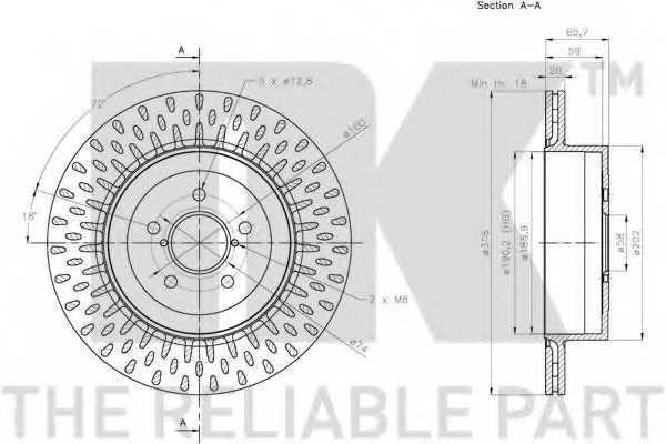 Тормозной диск NK 204423 - изображение 1