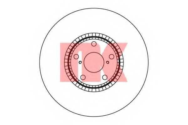 Тормозной диск NK 2045104 - изображение