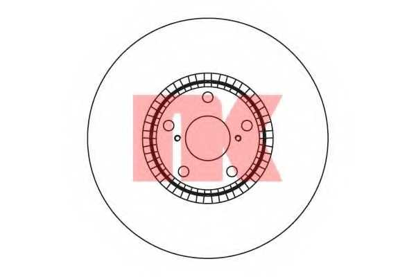 Тормозной диск NK 2045105 - изображение