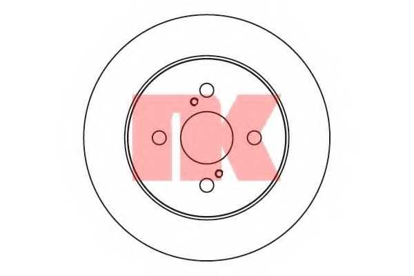 Тормозной диск NK 2045109 - изображение