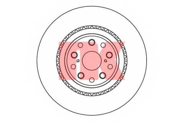 Тормозной диск NK 2045147 - изображение