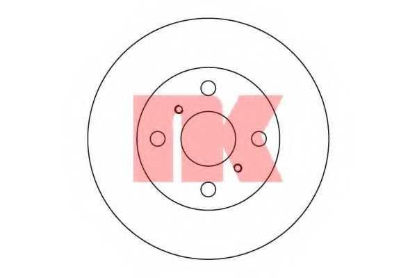 Тормозной диск NK 204526 - изображение
