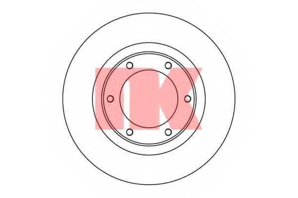 Тормозной диск NK 204542 - изображение