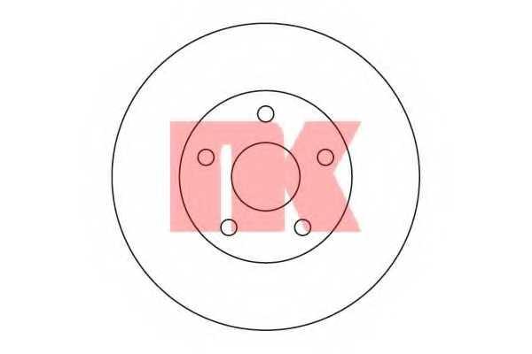 Тормозной диск NK 204560 - изображение