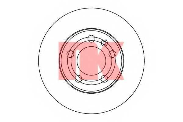 Тормозной диск NK 2047101 - изображение