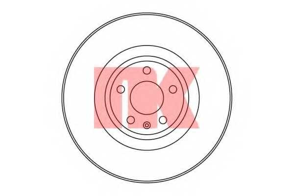 Тормозной диск NK 2047108 - изображение