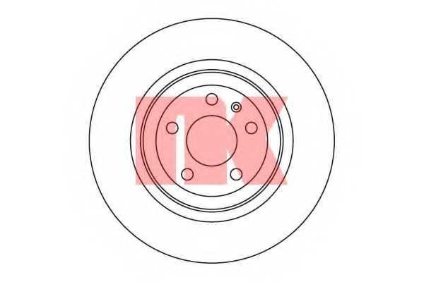 Тормозной диск NK 2047110 - изображение