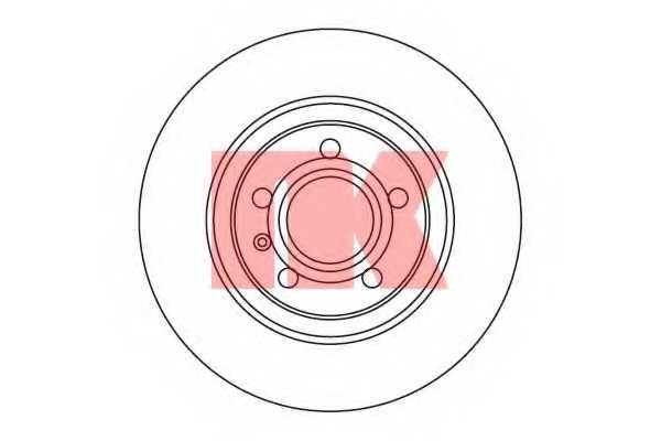 Тормозной диск NK 2047113 - изображение
