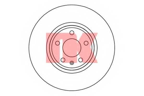 Тормозной диск NK 2047127 - изображение