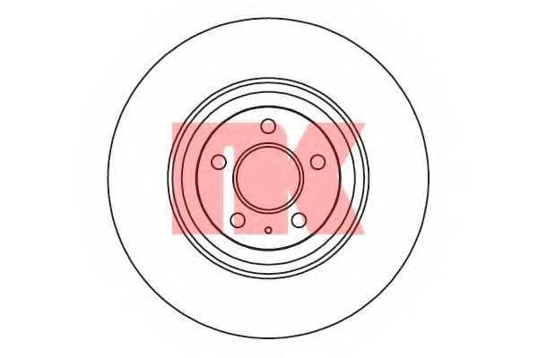 Тормозной диск NK 2047128 - изображение