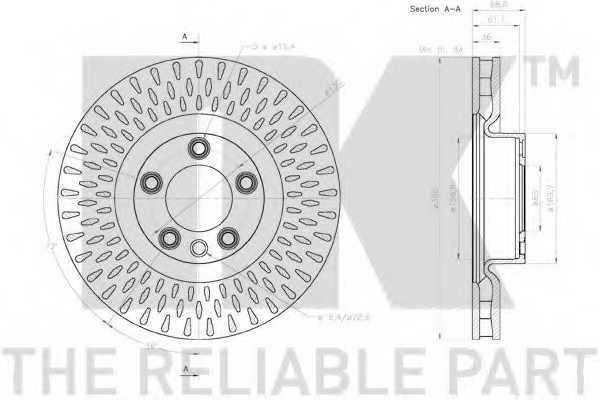 Тормозной диск NK 2047161 - изображение 1