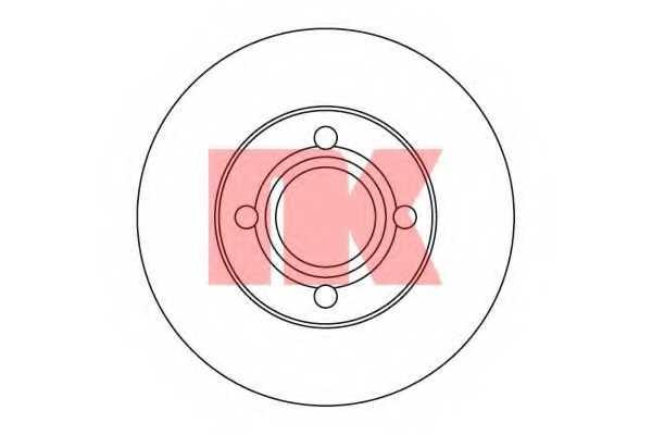 Тормозной диск NK 204719 - изображение
