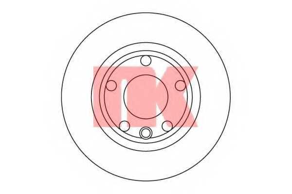 Тормозной диск NK 204732 - изображение