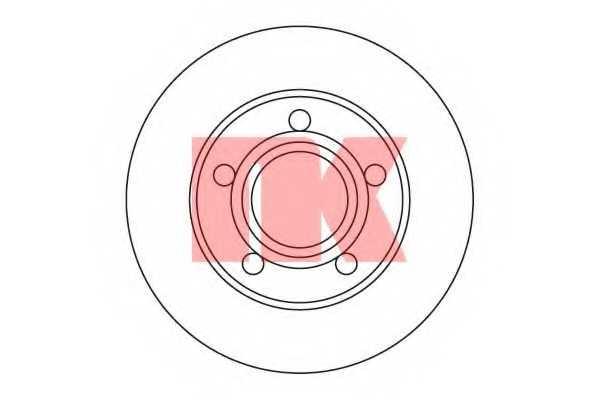 Тормозной диск NK 204747 - изображение