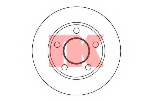 Тормозной диск NK 204749 - изображение