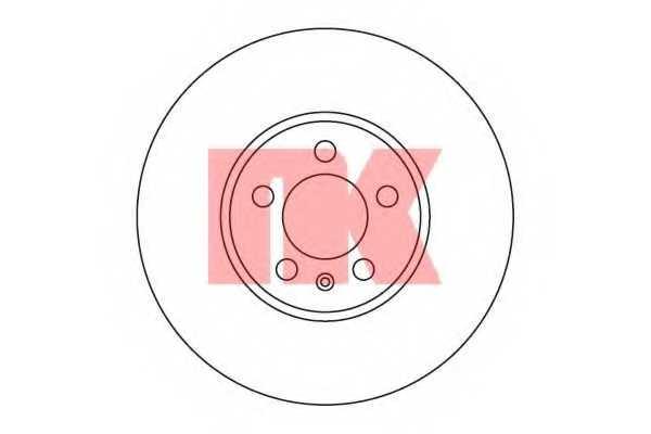 Тормозной диск NK 204753 - изображение