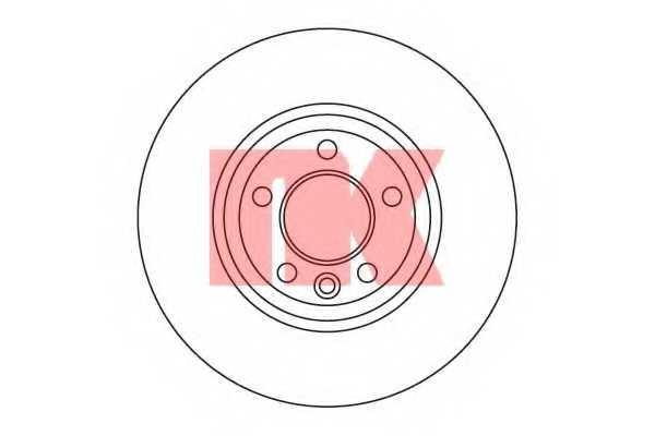 Тормозной диск NK 204796 - изображение