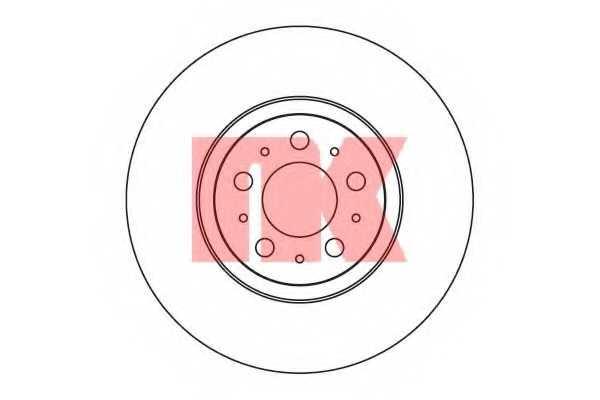 Тормозной диск NK 204851 - изображение