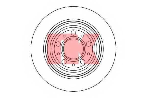 Тормозной диск NK 204854 - изображение