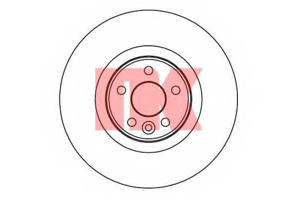 Тормозной диск NK 204856 - изображение