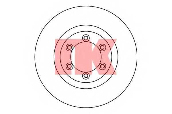 Тормозной диск NK 205701 - изображение