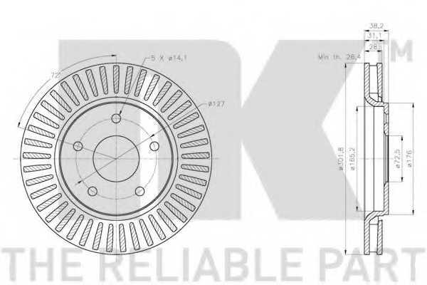 Тормозной диск NK 209333 - изображение 2