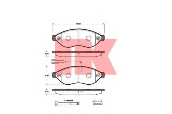 Колодки тормозные дисковые NK 221959 - изображение