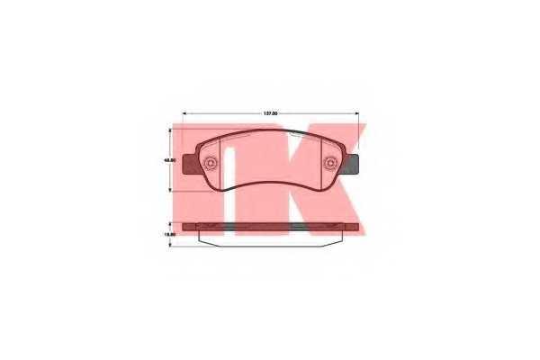 Колодки тормозные дисковые NK 221960 - изображение