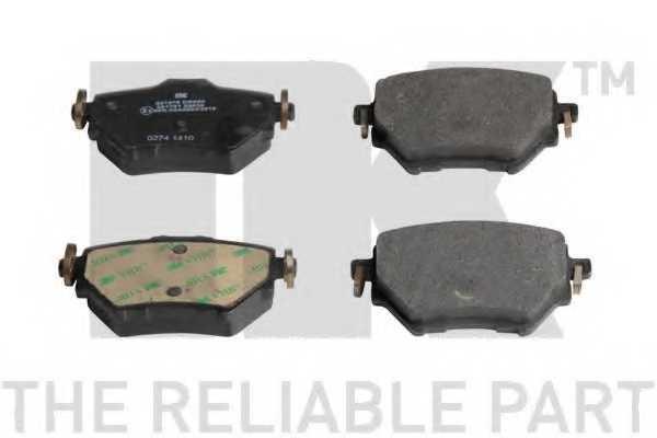 Колодки тормозные дисковые для CITROEN C4 / PEUGEOT 308 <b>NK 221975</b> - изображение