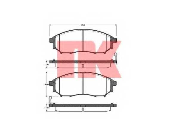 Колодки тормозные дисковые NK 222261 - изображение