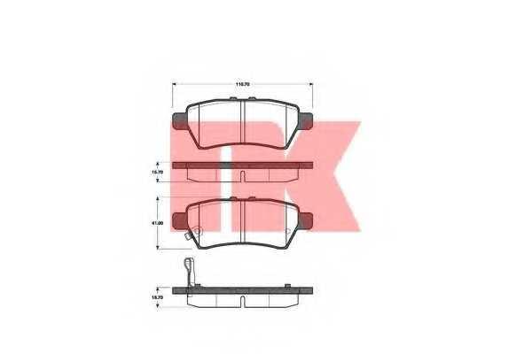 Колодки тормозные дисковые NK 222265 - изображение