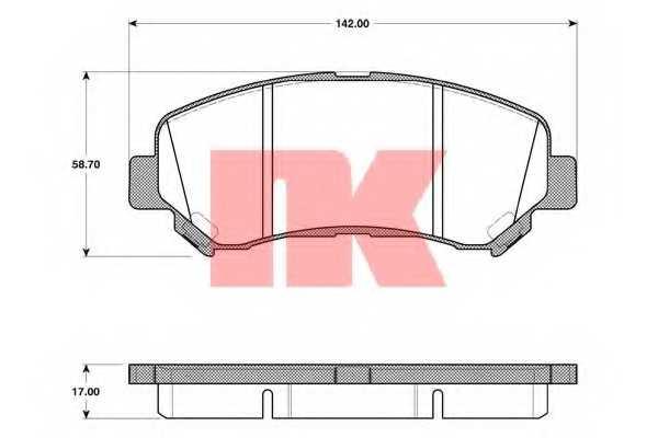 Колодки тормозные дисковые NK 222269 - изображение